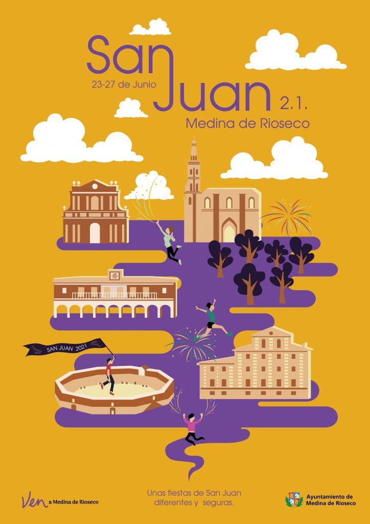 Cartel de la festividad de San Juan en Medina de Rioseco 2021